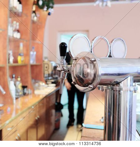 Beer machine in a Bar