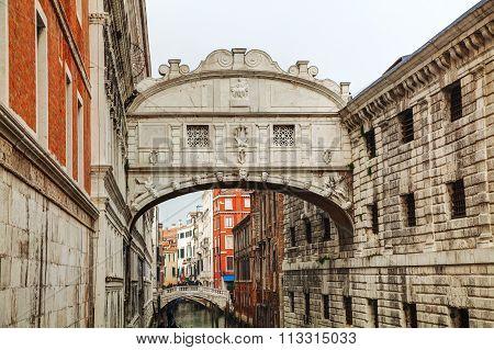 Bridge Of Sighs In Venice, Italy