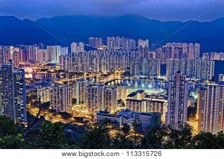 Hong Kong Sha Tin at Night