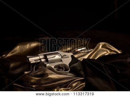 Snub Nose Revolver with Bullets