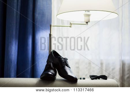 Groom Shoes And Bow Tie