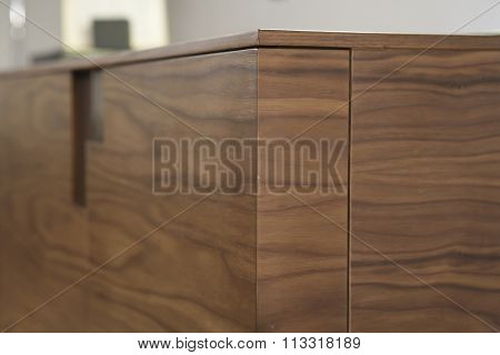 NEW FURNITURE LINE , MODERN DESIGN,  STRAIGHT LINES , MATERIALS : WOOD. ITEMS : DRESSER CLOSEUP