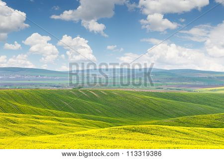 Beautiful sunny day, colorful landscape, Czech Republic, Europe