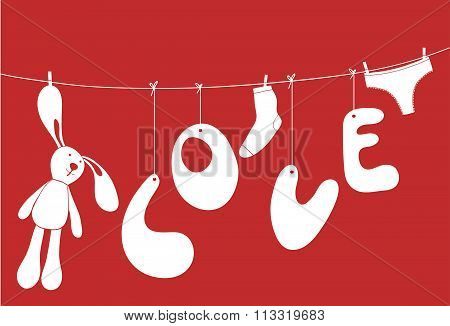 Funny love poster.
