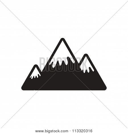 stylish black and white icon Canadian mountain