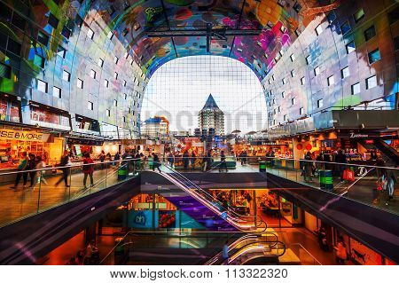 modern market hall in Rotterdam, Netherlands
