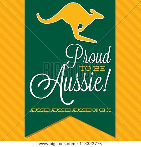 Australia Day Sash Card In Vector Format.