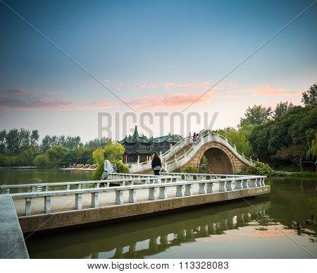 Yangzhou Landscape In Sunset