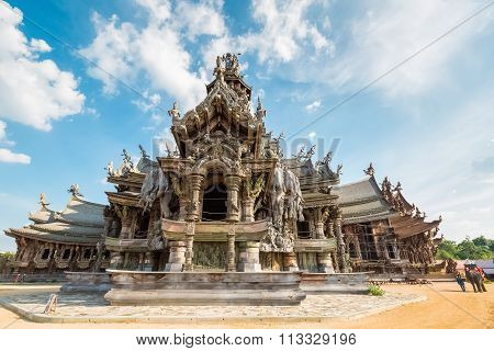 The Sanctuary Of Truth With Blue Sky