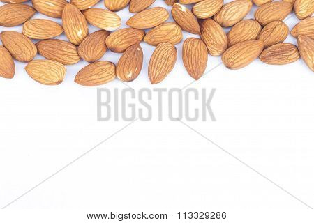 Almond Nuts Isolated On White Background