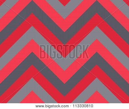Seamless geometric strip pattern. Stripy texture. Zigzag line background. Diagonal strips. Red, gray