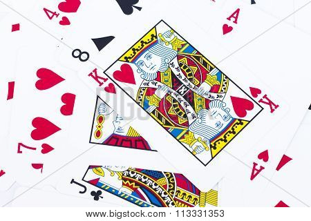 Close Up Playing Cards Background