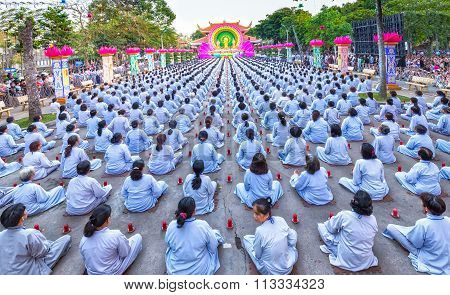 Panorama Square chickened celebrate Buddha Amitabha