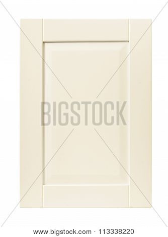 Front Kitchen Wooden Frame Cabinet Door Isolated On White