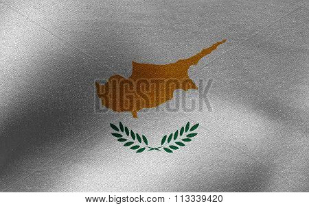 Closeup of ruffled Cyprus flag