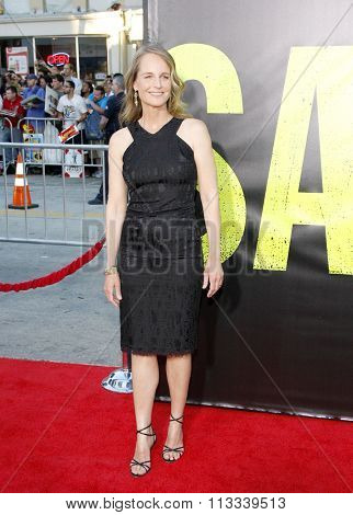 LOS ANGELES, CALIFORNIA - June 25, 2012. Helen Hunt at the Los Angeles premiere of 'Savages' held at the Mann Village Theatre, Los Angeles.