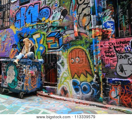 Graffiti street art Melbourne