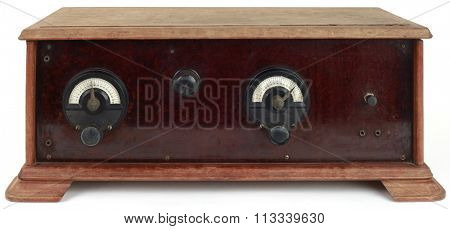Old Wooden Radio Tuner Station