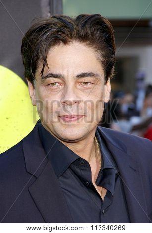 Benicio Del Toro at the Los Angeles premiere of