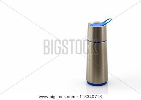 Closeup Thermos Flask.