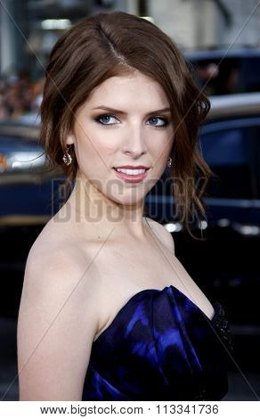 Anna Kendrick at the Los Angeles Premiere of