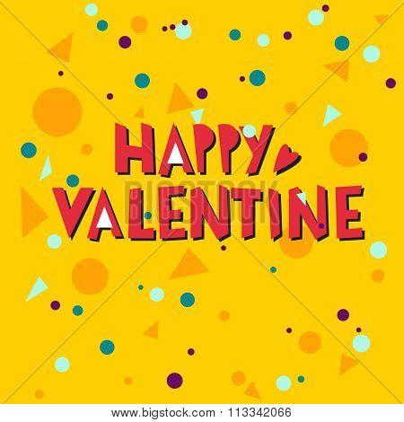 Happy Valentine Hand Lettering