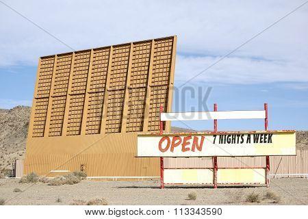 Drive-in cinema in the desert