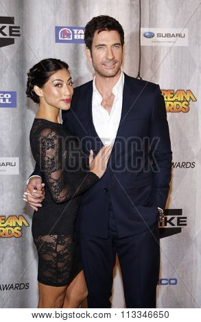 Dylan McDermott and Shasi Wells at the Scream Awards 2011 held at the Universal Studios Backlot in Universal City, USA on October 15, 2011.