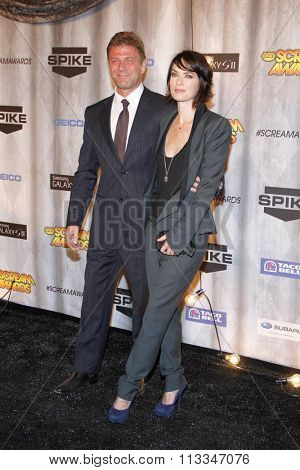 Sean Bean and Lena Headey at the Scream Awards 2011 held at the Universal Studios Backlot in Universal City, USA on October 15, 2011.