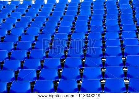 Blue Chair Temporary Stadium