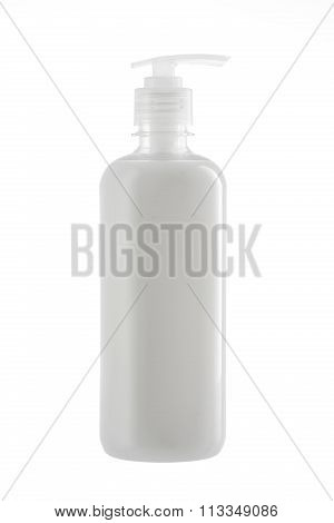 Bottle Of Natural Liquid Soap Isolated On White Background