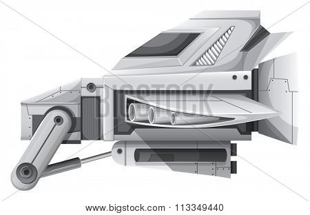 Advanced technology for spaceship illustration