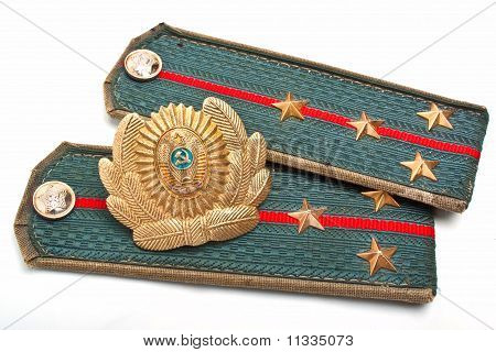 Cockarde And Epaulets Of The Soviet Militia