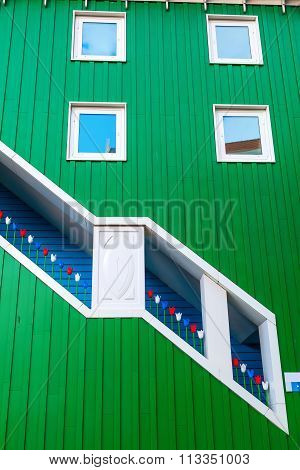 ZAANDAM, NETHERLANDS - SEPTEMBER 02, 2015: detail of the city hall in Zaandam. Together with the near Inntel Hotel it is an architectural ensemble, designed by WAM architects.