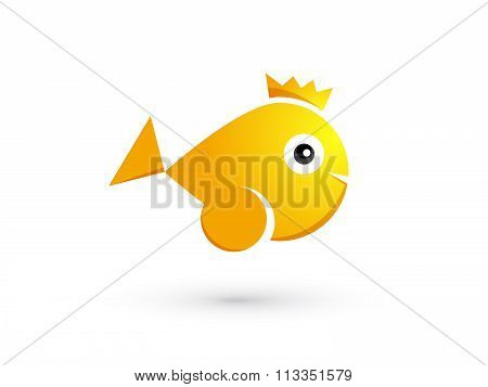 Goldfish With Crown