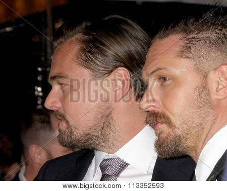LOS ANGELES - DEC 16:  Leonardo DiCaprio, Tom Hardy at the