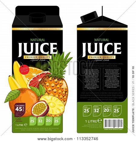 Template Packaging Design Tropical Juice