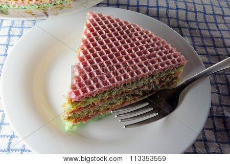 Waffle Cake With Condensed Milk