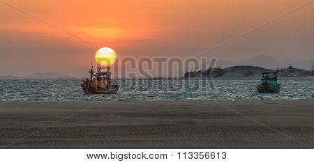 Sunset on the beach Ke Ga in Binh Thuan