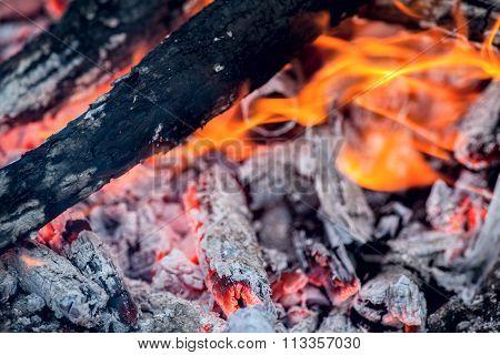 Smouldering coals