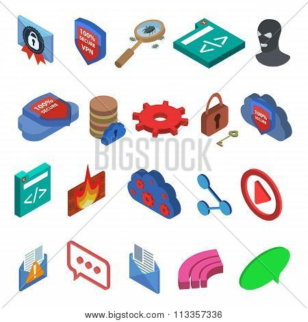 isometric it icons