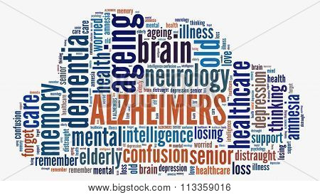 Alzheimers in word collage