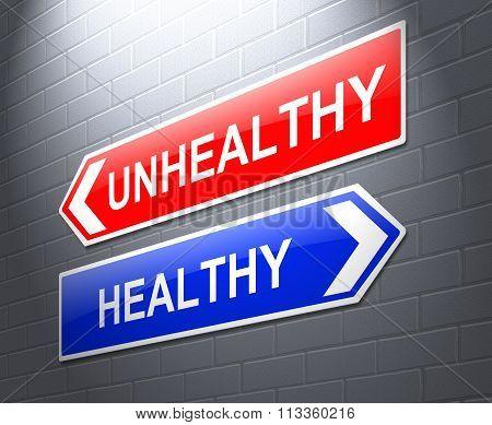 Healthy Or Unhealthy Concept.