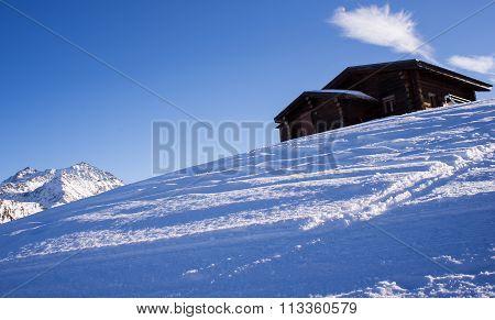 Swiss Chalet In Snow