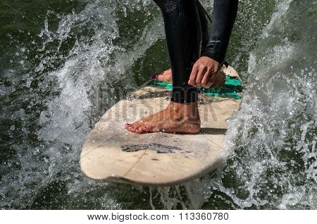 surfing girl