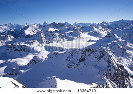 Rosablanche Glacier In Winter