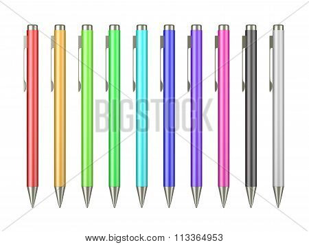 Pen Collection Isolated On White