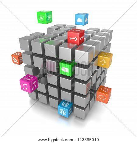 3D Cube App Icons