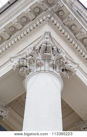Classical Pillars With Portico Detail