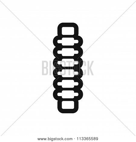 stylish black and white icon human vertebra